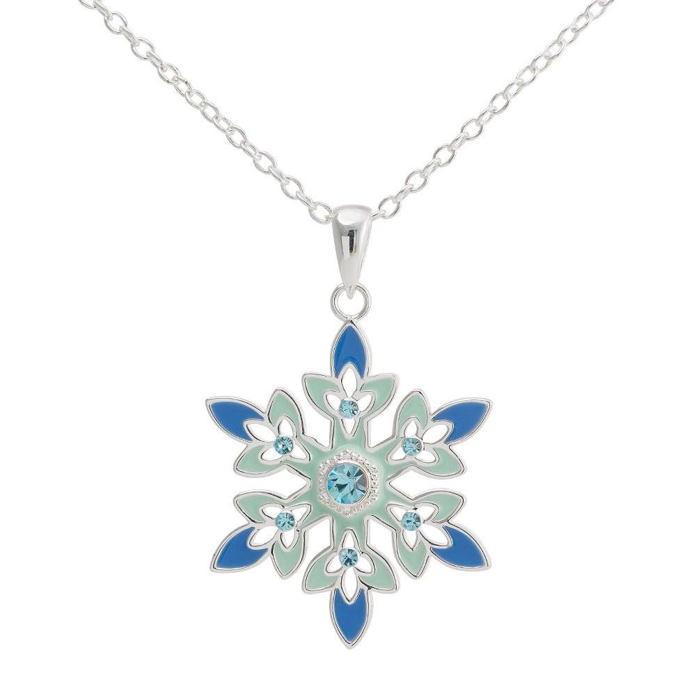 Disney Frozen Snowflake Pendant with Crystal Accent(18), Girl's, Multi-Colored