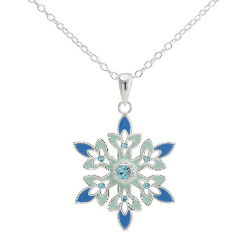 "Disney® Frozen Snowflake Pendant with Crystal Accent(18"") - image 1 of 2"