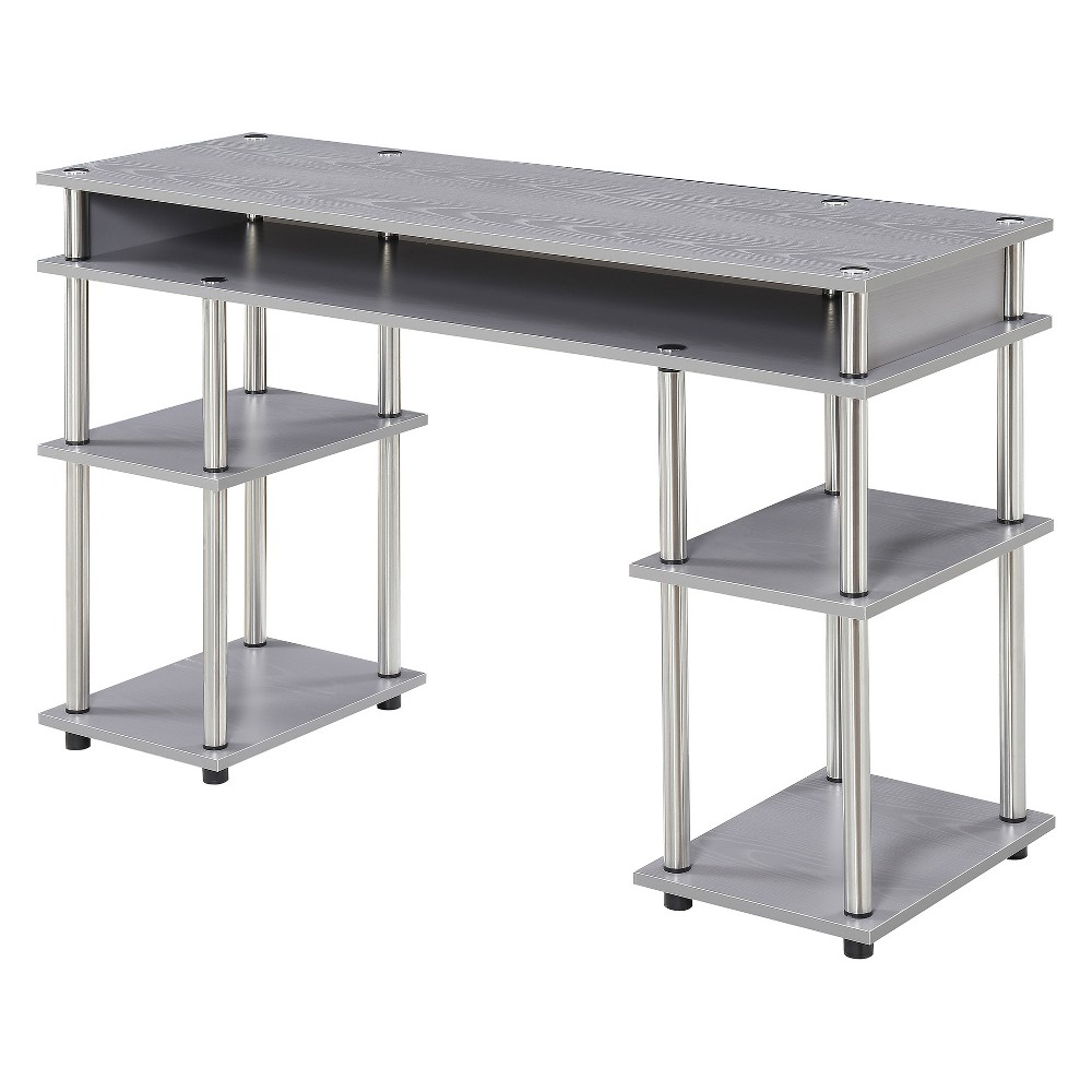 Johar Furniture Designs2Go No Tools Student Desk Gray Johar Furniture Designs2Go No Tools Student Desk Gray