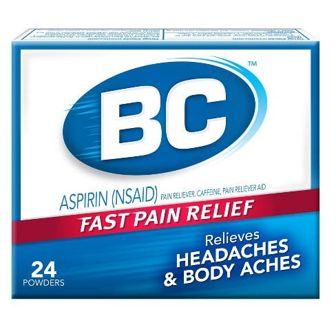 BC Fast Pain Relief Powder Packets - Aspirin (NSAID)/Acetaminophen - 24ct - image 1 of 1
