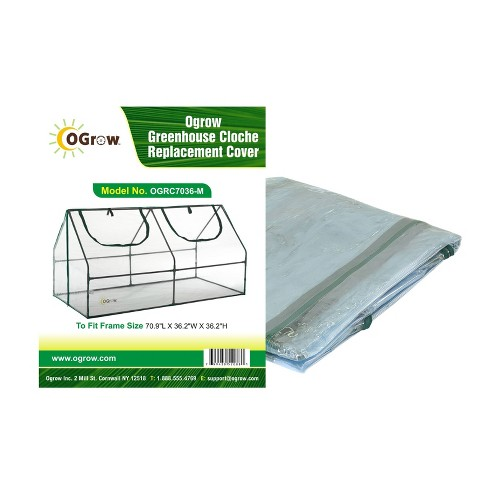 Greenhouse Cloche Replacement Cover Clear - OGrow - image 1 of 4