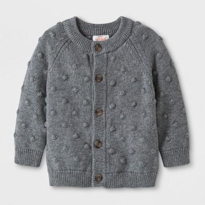 Baby Girls' Bobble Cardigan - Cat & Jack™ Gray