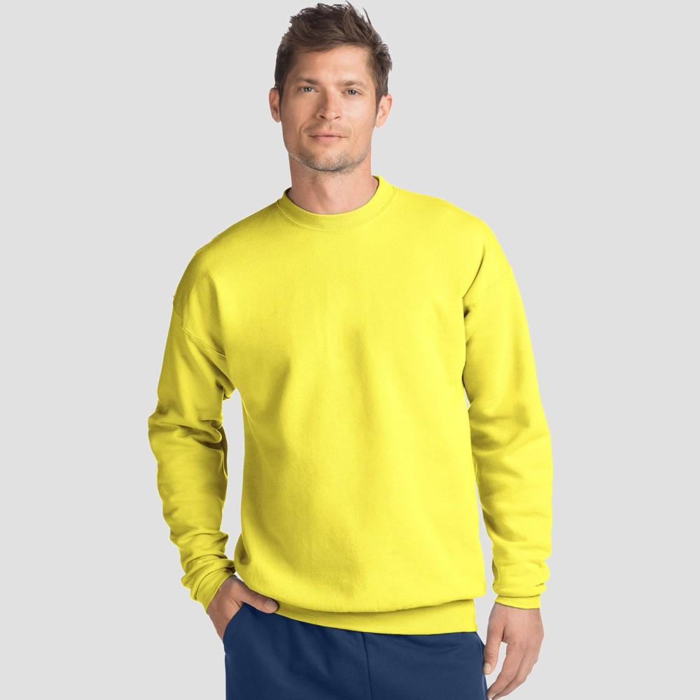 Hanes Mens EcoSmart Fleece Crew Neck Sweatshirt - Yellow 2XL Buy