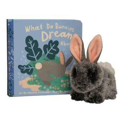 The Manhattan Toy Company Mini Bunny Stuffed Animal and Board Book Gift Set