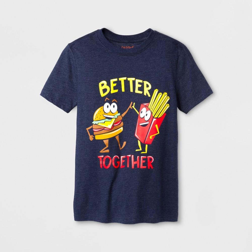 Boys' Short Sleeve T-Shirt - Cat & Jack Blue XL