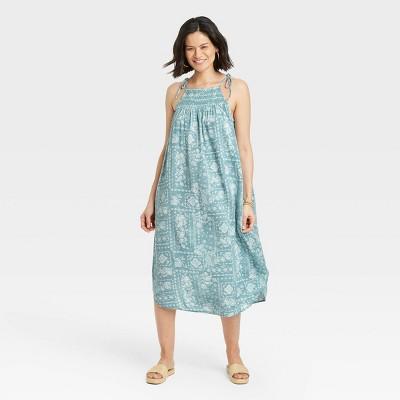Women's Sleeveless Tie-Strap Smocked Dress - Knox Rose™