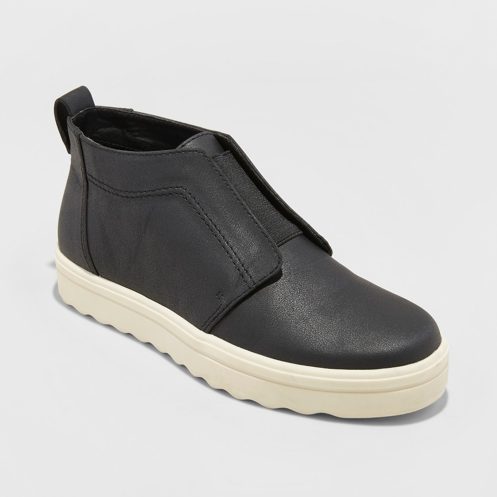 Women's Lilian Microsuede Slip On Sneakers - Universal Thread Black 5