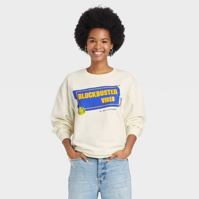Women's Blockbuster Graphic Sweatshirt - Off-White