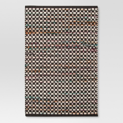 Black Woven Accent Rug - (2'x3') - Threshold™ - image 1 of 2