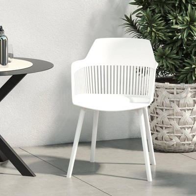 Camelo 2pk Indoor/Outdoor Resin Dining Chair with Slat - CosmoLiving by Cosmopolitan
