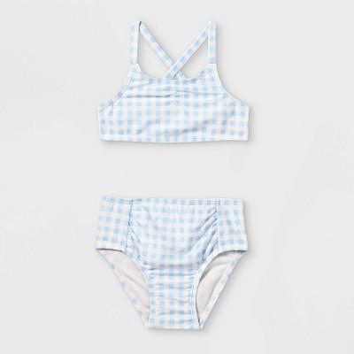 Toddler Girls' 2pc Gingham Check Print Bikini Set - Cat & Jack™ Blue