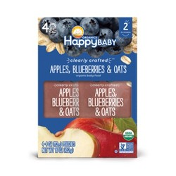 Happy Baby Clearly Crafted Apple Blueberry Oats - 4pk