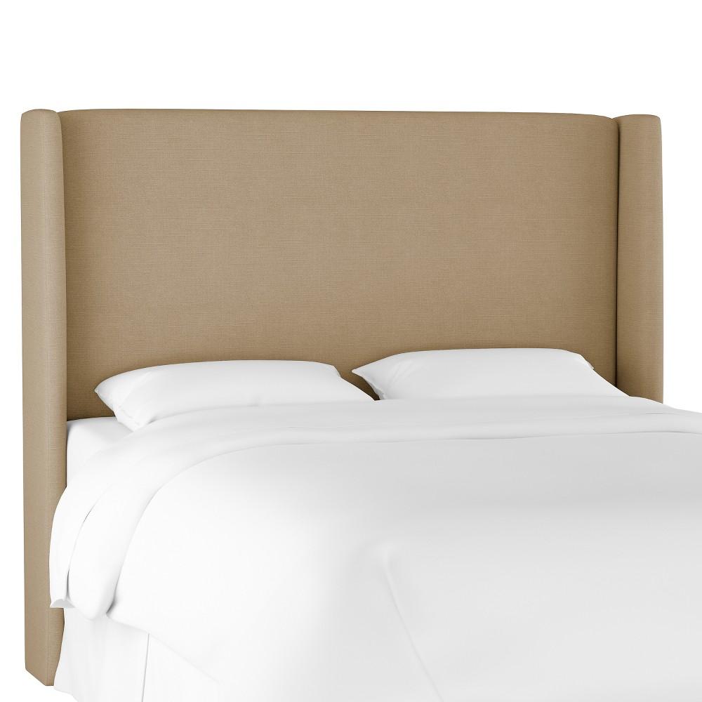 King Antwerp Wingback Headboard Tan Linen - Project 62 Discounts