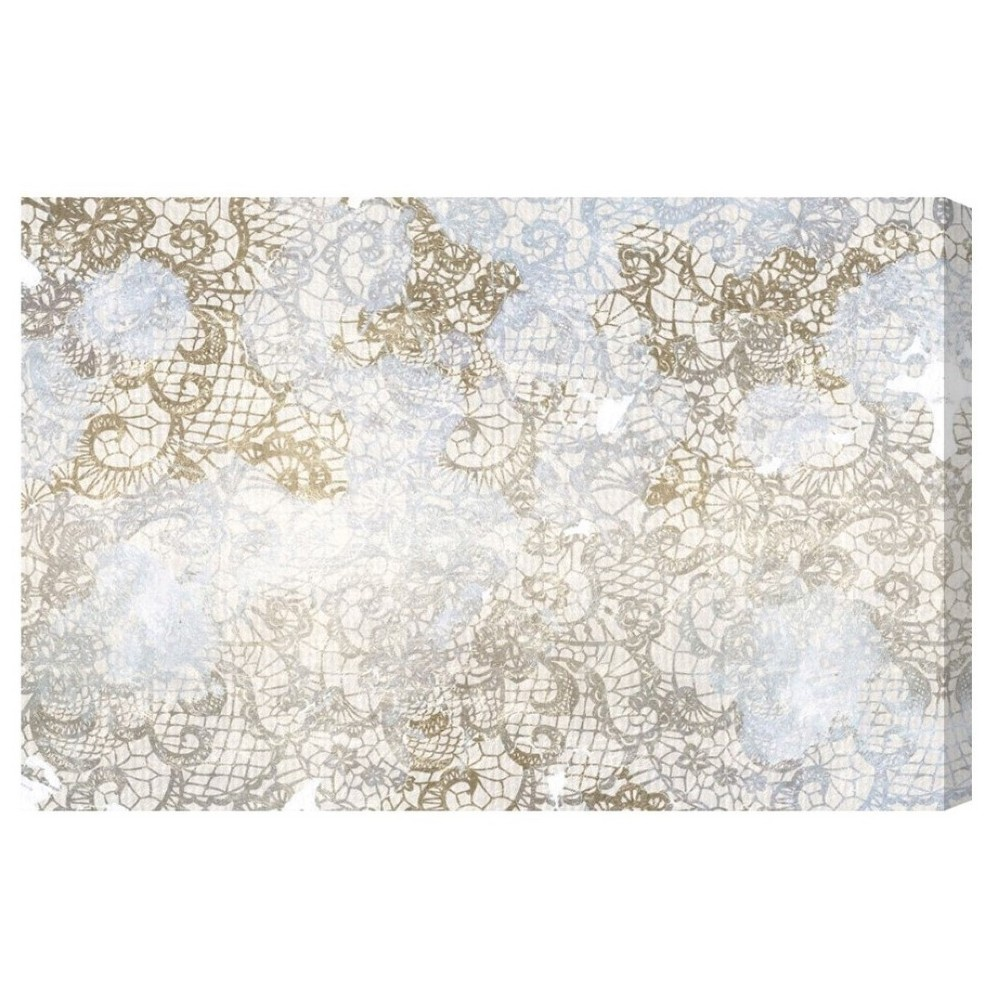 "Image of ""Oliver Gal Unframed Wall """"Arabella"""" Canvas Art (24x16), Gold Beige"""