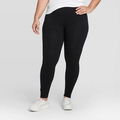 Women's High Waist Cotton Blend Seamless Leggings - A New Day™