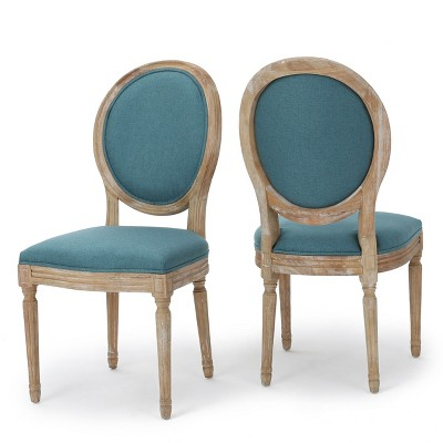 Phinnaeus Dining Chair - Dark Teal (Set of 2)- Christopher Knight Home