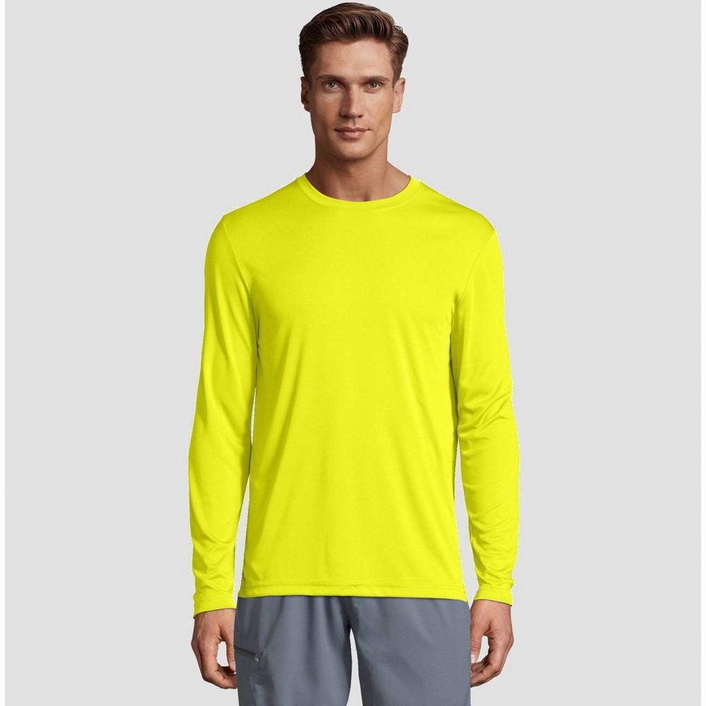 Hanes Men's Big & Tall Long Sleeve CoolDRI Performance T-Shirt -Lime 3XL, Green