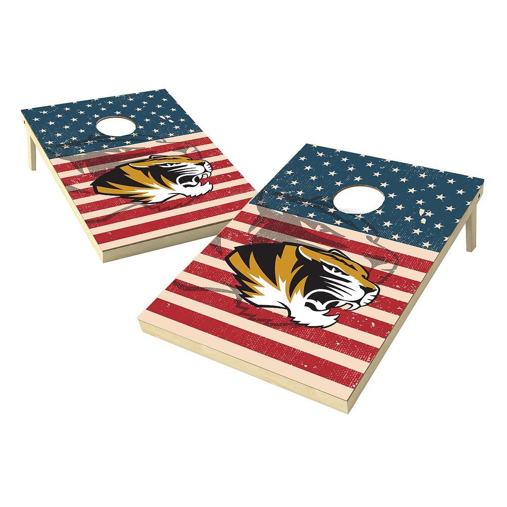 NCAA 2x3 Tailgate Toss Platinum College Missouri Tigers Sas Worn Shadow Design