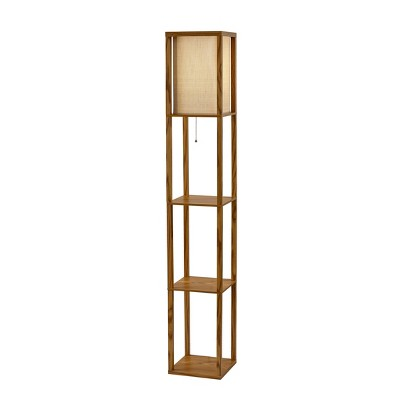 "63"" Wright Shelf Lamp Tan - Adesso"