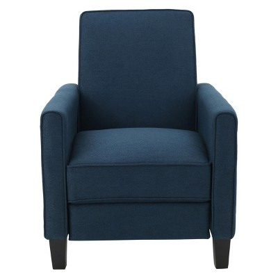 Darvis Recliner Club Chair - Dark Blue - Christopher Knight Home