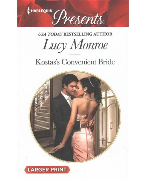 Kostas's Convenient Bride -  Large Print by Lucy Monroe (Paperback) - image 1 of 1