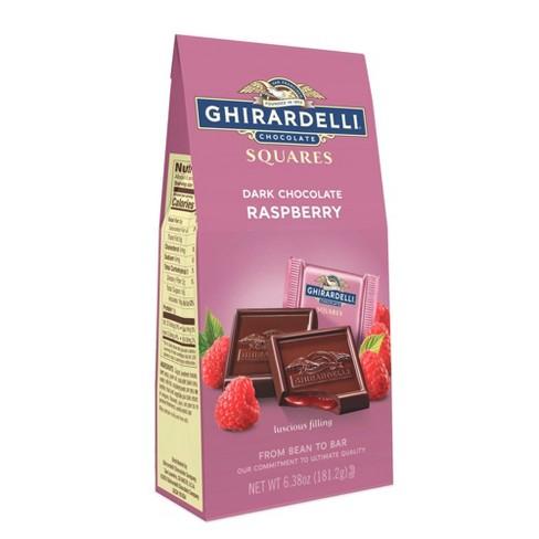 Ghirardelli Dark Chocolate & Raspberry Filling Squares - 6.38oz - image 1 of 4