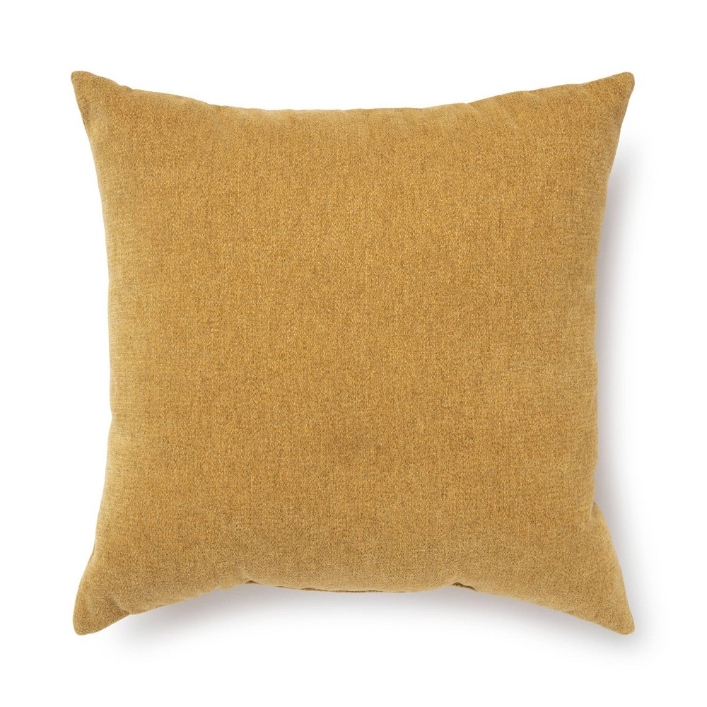 18 34 X18 34 Chenille Square Throw Pillow Gold