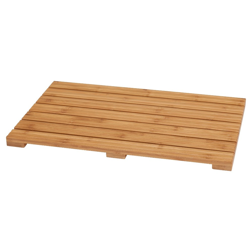 Image of Ecostyle Home Bath Mat Light Brown Bamboo - Eco Styles