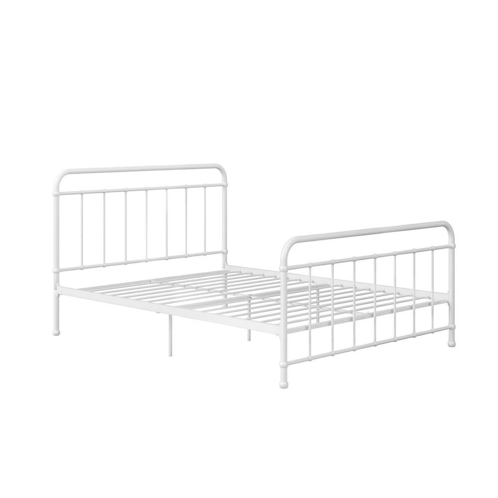 Queen Bancroft Metal Bed White - Room & Joy