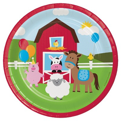 "Farm Fun 7"" Dessert Plates - 8ct"