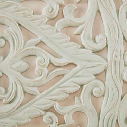 Wooden Mandala 3d Embellished Canvas 3pc Decorative Wall Art Set Cream