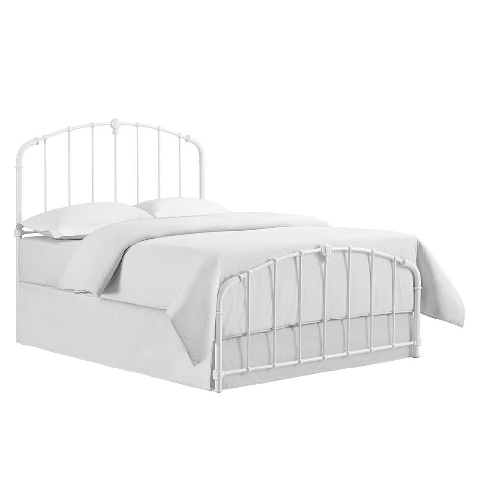 King Hazel Metal Adult Bed White - Crosley