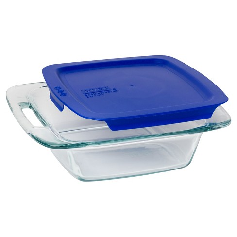 Pyrex Easy Grab 8 Inch Square With Blue Plastic Cover Target