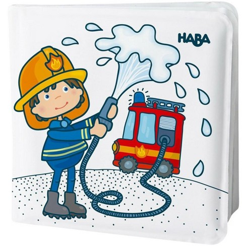HABA Magic Bath Book Fire Brigade - Wet the Pages to Reveal Colorful Backgrounds in Tub or Pool - image 1 of 4