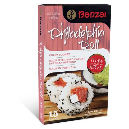 Banzai Philadelphia Roll with Wild Caught Alaskan Seafood - 13.5oz - image 1 of 1