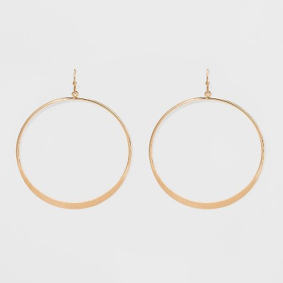Open Drop Hoop Earrings - Universal Thread™ Gold