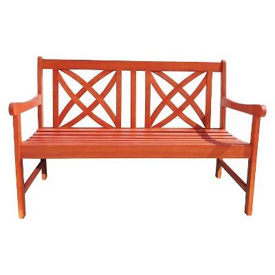 Vifah 4' Wood Garden Bench - Brown