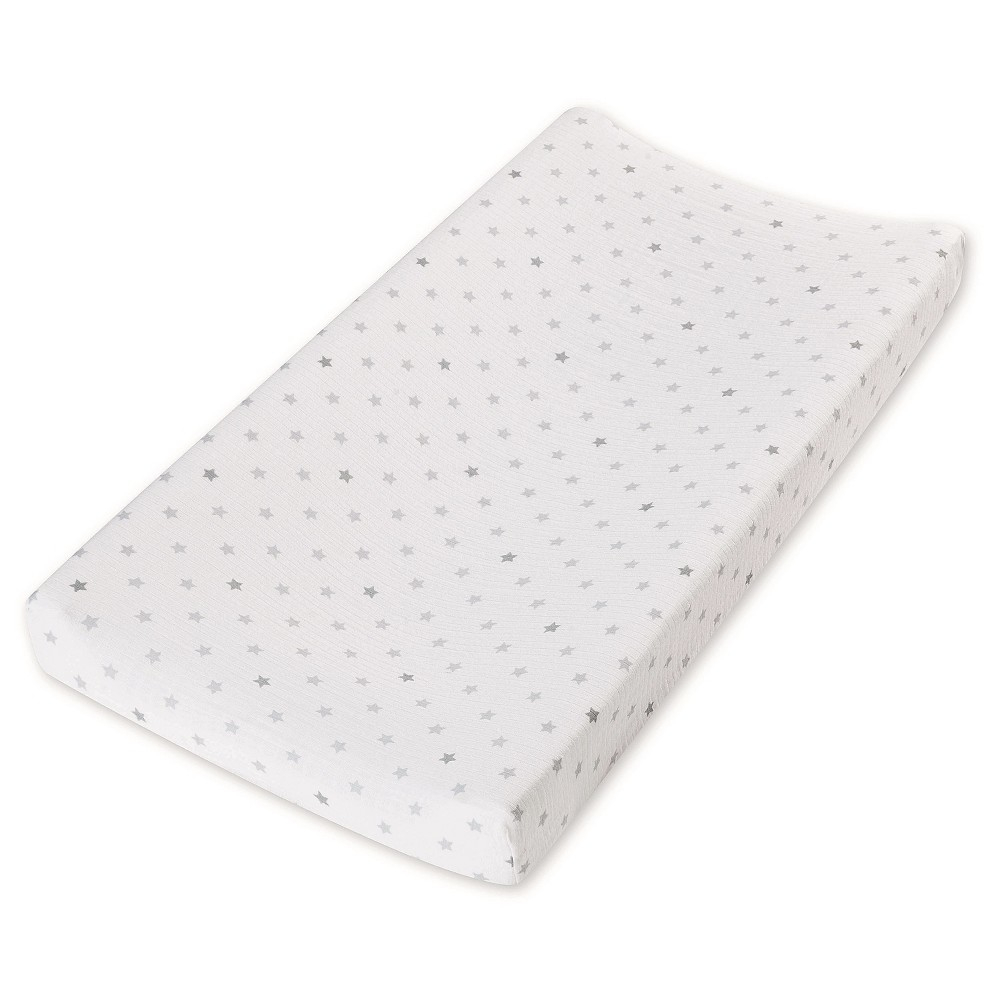 Image of Aden by Aden + Anais Changing Pad Cover - Dove, Gray