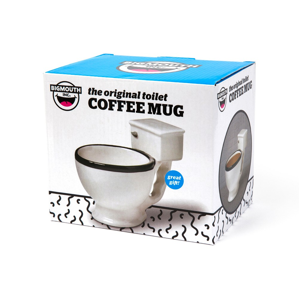The Original Toilet Coffee Mug Drinkware - Big Mouth Toys, White