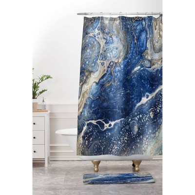 Shannon Clark From Above Shower Curtain Blue - Deny Designs