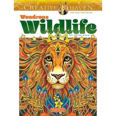 - Creative Haven Wondrous Wildlife Coloring Book - (Creative Haven Coloring  Books) By Marjorie Sarnat (Paperback) : Target