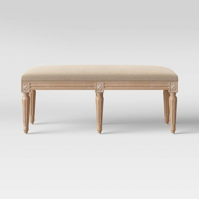 Erwin Turned Wood Leg Bench Beige - Threshold™