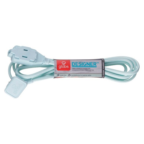 Globe designer indoor extension cord - Mint - image 1 of 1