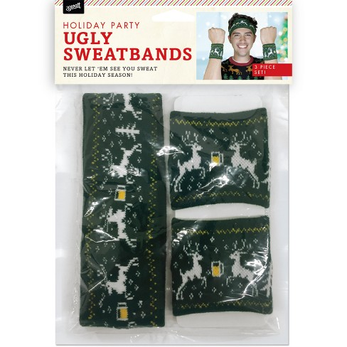 30 Watt 3pc Ugly Sweater Sweatband Costume Set   Target 551395b1d4a