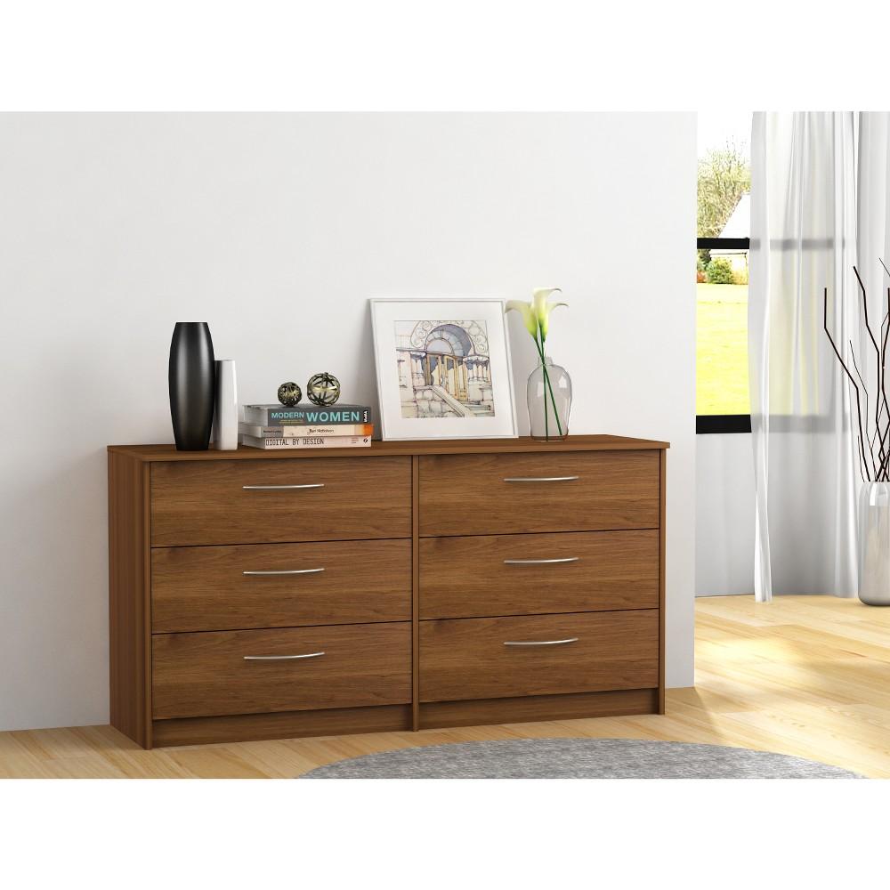Image of Addison 6 Drawer Dresser Bank Alder Brown - Loft 607