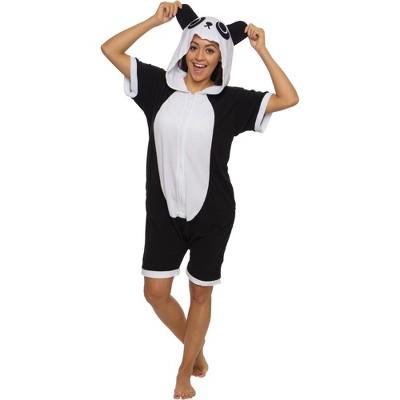 Funziez! Panda Adult Short Sleeve Novelty Romper