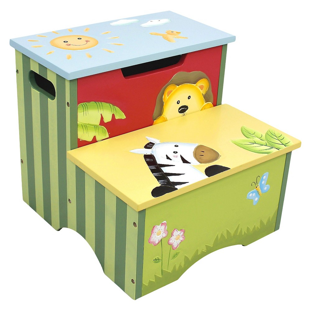 Image of Fantasy Fields Sunny Safari Step Stool - Teamson