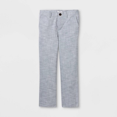 Boys' Chambray Suit Pant - Cat & Jack™ Blue