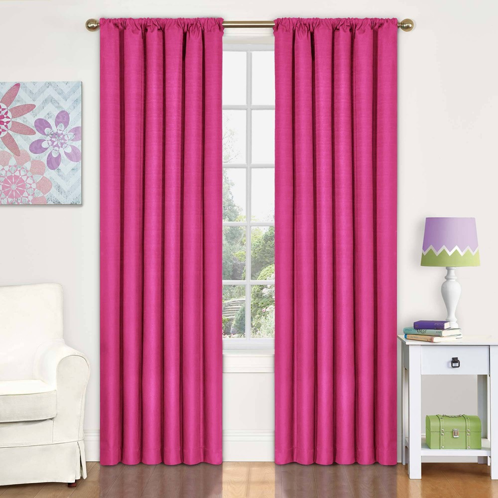 "Image of ""Eclipse My Scene Kendall Blackout Window Panel - Raspberry (42"""" X 63""""), Pink"""
