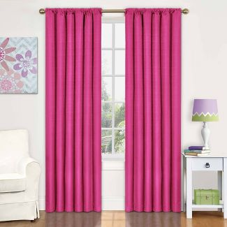 "42""x63"" Kendall Blackout Thermaback Curtain Panel Pink - Eclipse My Scene"